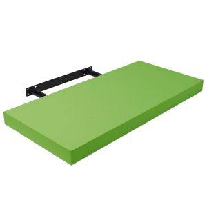 Raft perete cu suport ascuns 80x23.5x3.8 cm, Verde