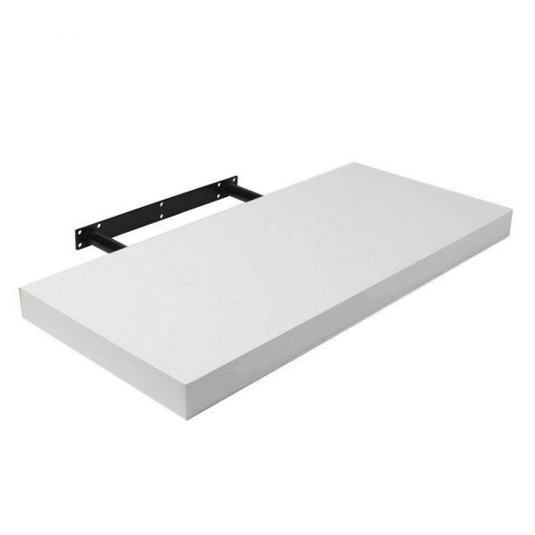 Raft perete alb cu suport ascuns