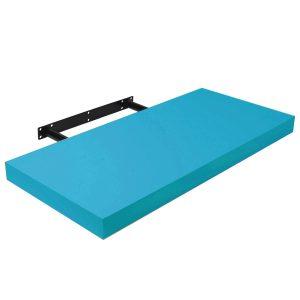 Raft perete cu suport ascuns 80x23.5x3.8 cm, Albastru
