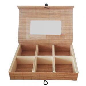 Cutie pentru bijuterii, Bamboo 20.5x14x4 cm
