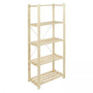 Etajera din lemn cu 5 polite, 75x40x170 cm