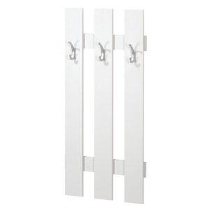 Cuier alb cu 3 agatatori, PAL, 55x10x115 cm