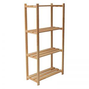Etajera din lemn cu 4 nivele, 65x30x130 cm