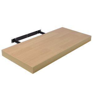 Raft suspendat cu suport ascuns 80x23.5x3.8 cm, Stejar Sonoma