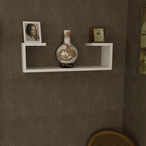Raft de perete, 60x14.5x18 cm Alb