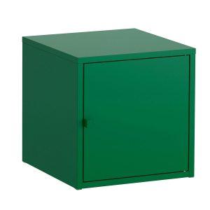 Cub metalic suspendabil cu usa, Verde, 35x35x35 cm