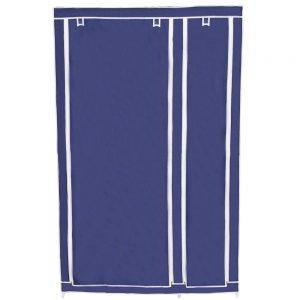 Dulap textil pentru haine, albastru, 110x175 cm