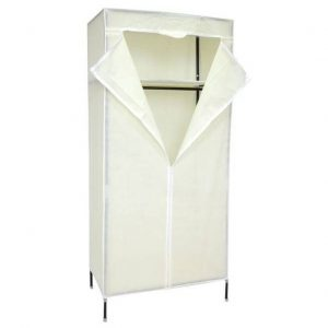 Dulap textil pentru haine, Alb, 72x155 cm