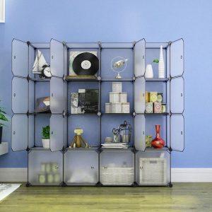 Dulap modular depozitare din plastic 147x37x147 cm