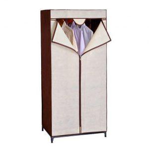 Dulap textil pentru haine, 70x150 cm, Maro/Crem