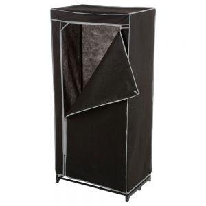 Dulap textil pentru haine, 70x150 cm, Negru