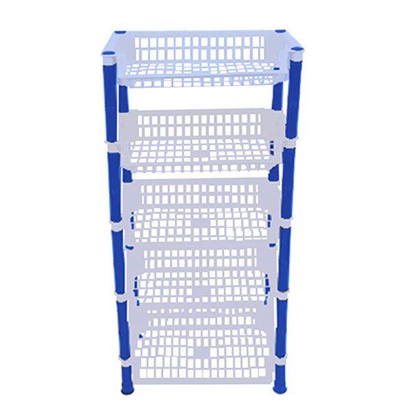 Etajera Uz Casnic cu 5 rafturi, Plastic, 40x29x91 cm Albastru