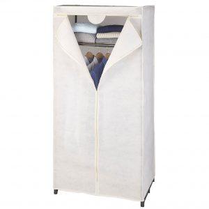 Dulap textil Butterfly, Crem, 75x50x160 cm