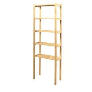 Etajera din lemn cu 5 rafturi, 65x28x170 cm