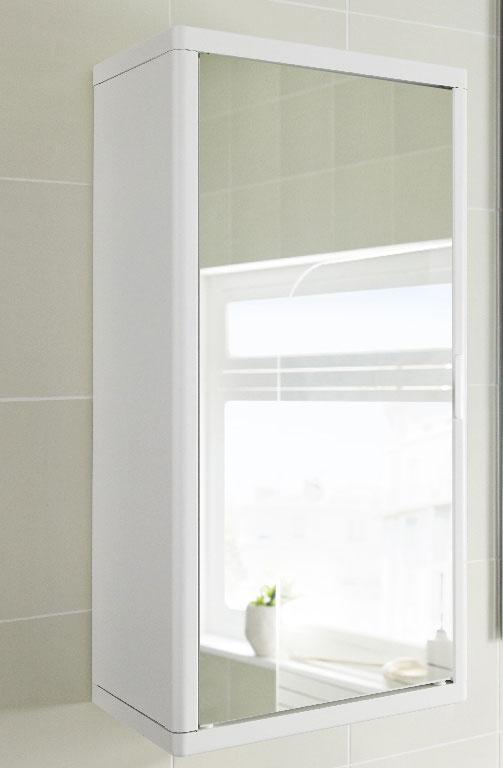 Dulap metalic suspendat pentru baie cu oglinda, 30x20x60 cm