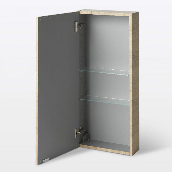 Dulap pentru baie cu 2 rafturi, 40x15x90 cm, PAL Stejar