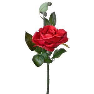 Fir de trandafir rosu artificial, Arly, 38 cm