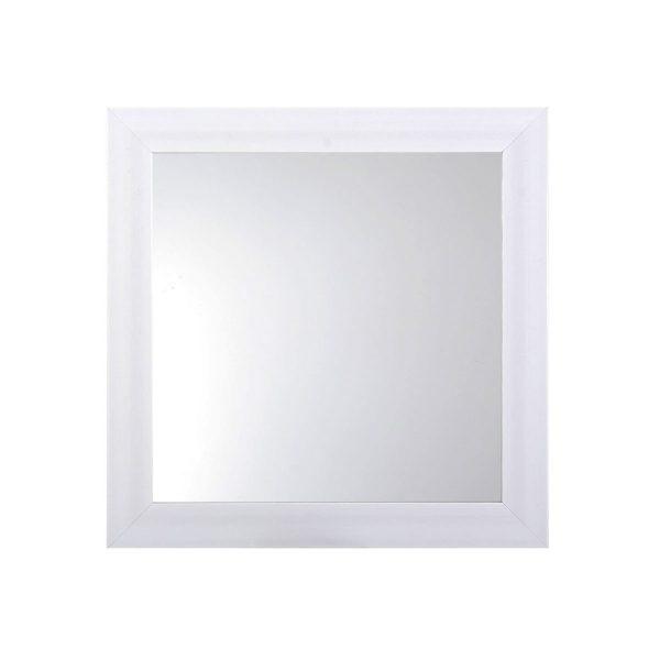 Oglinda perete, 36x36x2 cm, Alb