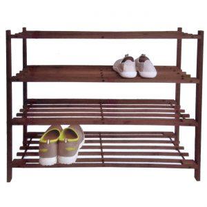 Etajera suport incaltaminte din lemn cu 4 rafturi 65.5x26x66 cm