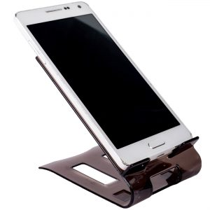 Suport telefon mobil tableta, 10.5x7 cm Negru