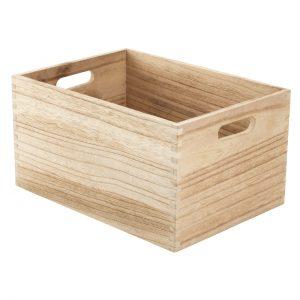 Cutie din lemn 24x34x18 cm, Natur