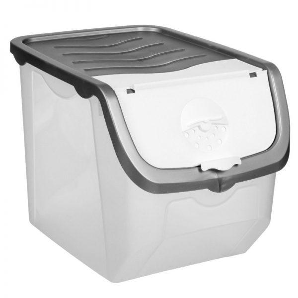 Cutie pentru depozitarea alimentelor, 28x23 cm, Gri