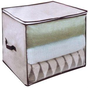 Husa pentru depozitare cu fermoar, 40x40x40 cm, Bej