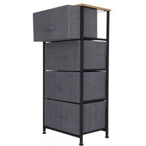 Corp pentru depozitare cu 4 sertare textile 45x30x94 cm