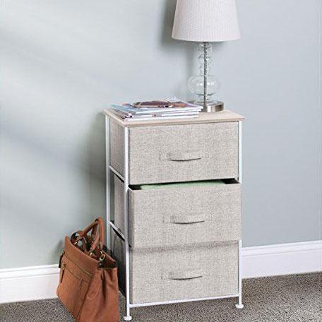 Corp pentru depozitare cu 3 sertare textile 45x30x73 cm