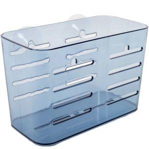 Suport pentru baie din plastic albastru, 17x10x12 cm