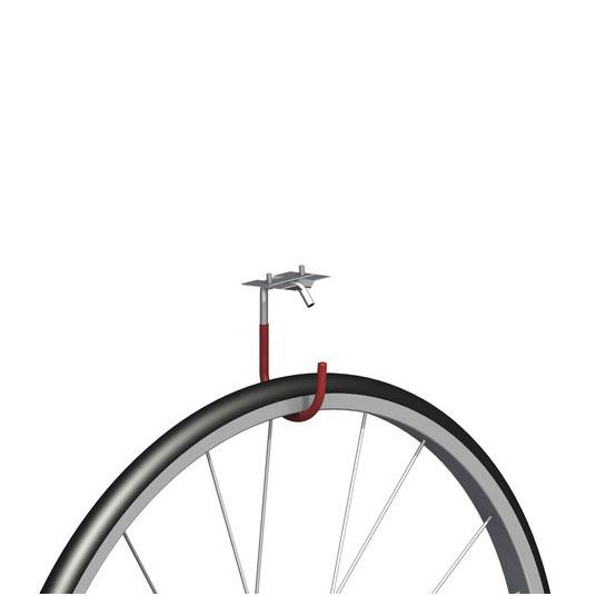 Carlig din otel pentru suspendare bicicleta cu montaj pe tavan, 9x12.5 cm