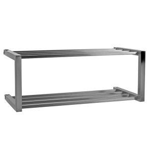 Etajera metalica de perete cu 2 rafturi, 76x30x35 cm