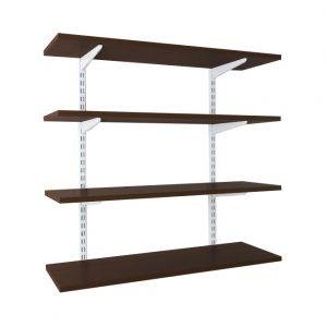 Raft modular Sigma 4P, 120x30x150 cm, Metal/PAL Alb/Wenge