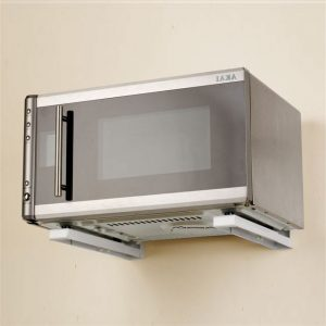 Suporti de perete pentru cuptor cu microunde, pe perete, 49,5x32x22 cm, 40 kg, alb