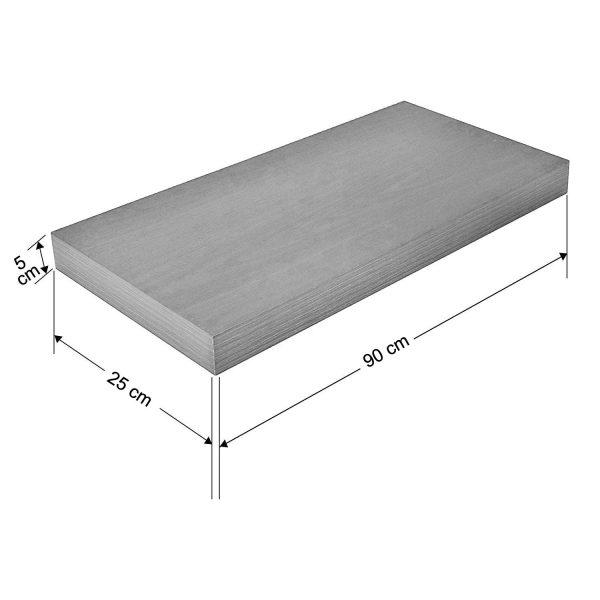Raft perete 90x25x5 cm, Nuc