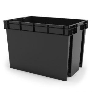 Cutie neagra din plastic, 70 litri, 58.5x38x40 cm