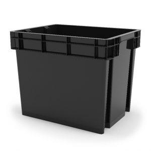 Cutie neagra din plastic, 35 litri, 39x29x31 cm