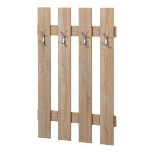Cuier cu 4 agatatori, 75x10x115 cm, PAL Stejar