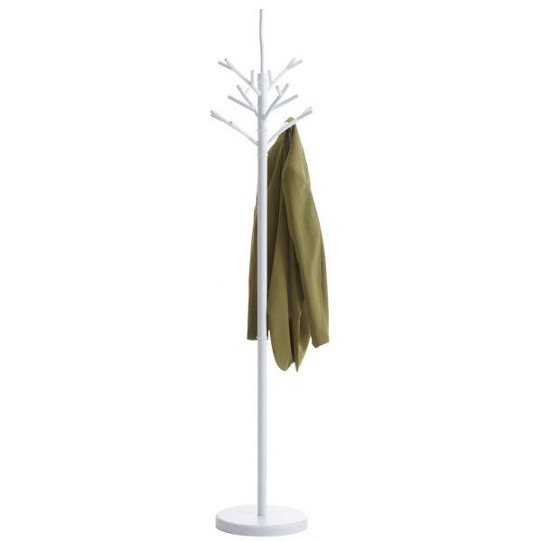 Suport cuier tip pom, Alb 178 cm