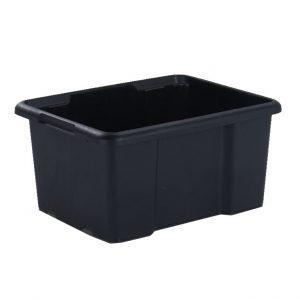Cutie neagra din plastic, 44 litri, 55.5x39.5x29.5 cm