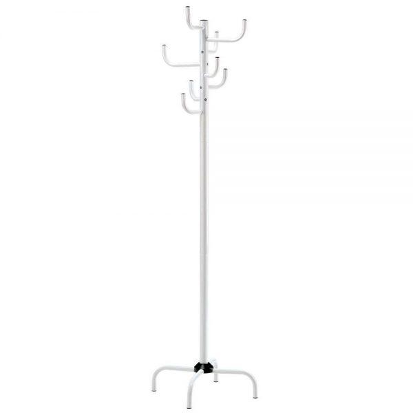 Suport cuier tip pom, Alb 170 cm