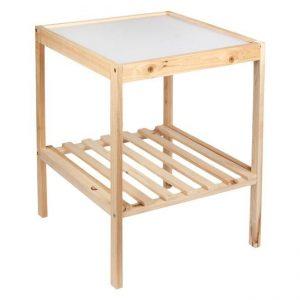 Masuta din lemn pentru baie, 36x34.5x45 cm Lemn Natur