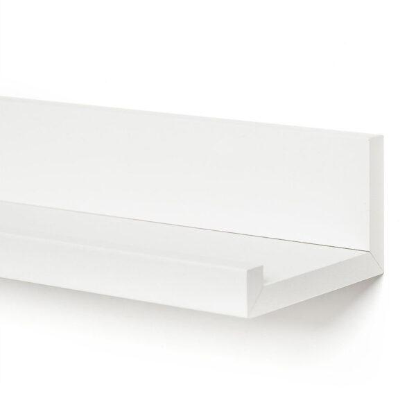 Raft de perete, 60x12x9 cm, PAL Alb