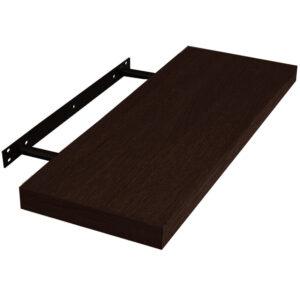Raft de perete cu suport ascuns, 118x23.5x3.8 cm, Wenge