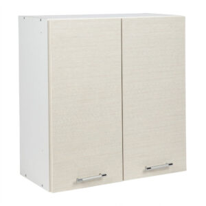 Cabinet suspendat bucatarie, 60x30x65 cm, Arly, PAL Alb/Stejar Deschis