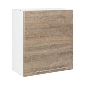 Cabinet suspendat bucatarie, 60x30x65 cm PAL Alb/Stejar Sonoma