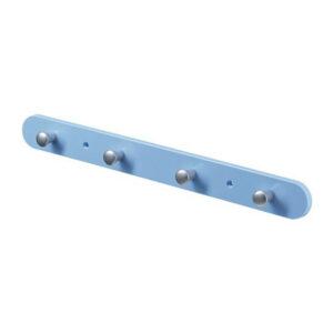 Cuier albastru cu 4 agatatori 38x3x4 cm Plastic