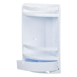 Raft pentru baie cu 2 rafturi si sertar, 29x18x41 cm Plastic Alb