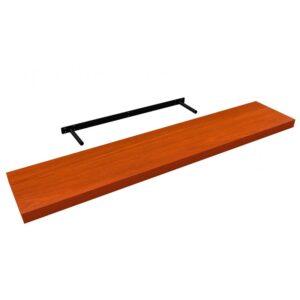 Raft de perete cu suport ascuns, 118x23.5x3.8 cm, MDF Cires
