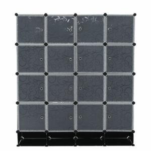 Dulap modular depozitare din plastic 147x47x165 cm Negru